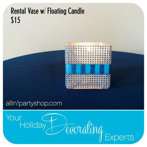 Rental Vase w/ Floating Candle