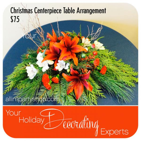 Christmas Centerpiece Table Arrangement