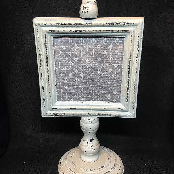 "Frame - Antique Pedestal- Green 4"" x 4"""