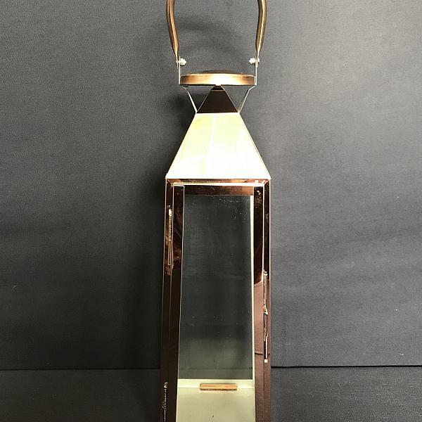 "Lantern - Copper 16"" h"
