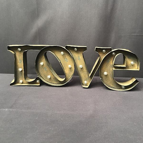 Marquee Sign - LOVE - Rustic