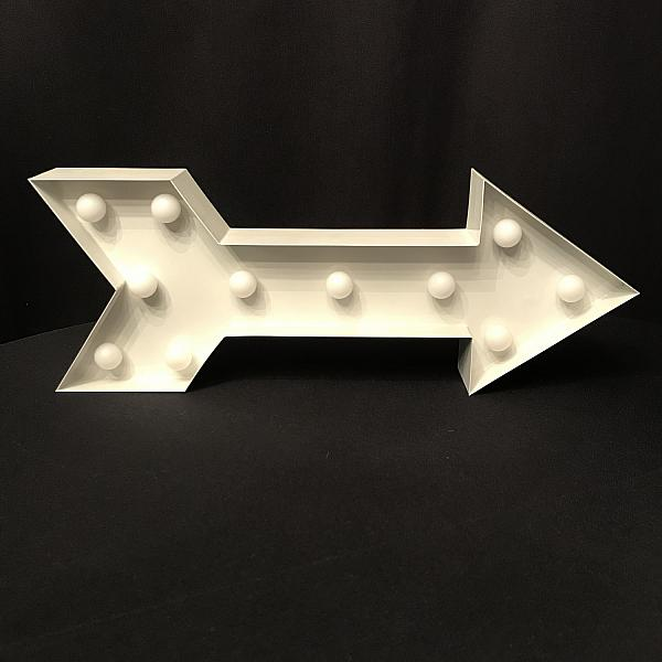 "Marquee Sign - ARROW - 6"" x 16"""