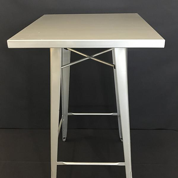 """Square Metal Cocktail Table 42"""" Height"""