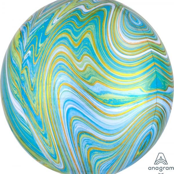 "Marblez Orbz - 16"" - Blue & Green"
