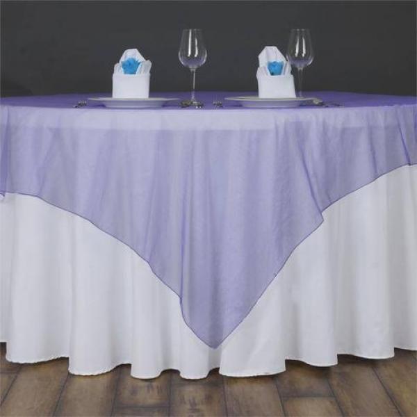 """Table Overlay - Organza - Purple 70"""" x 70"""""""
