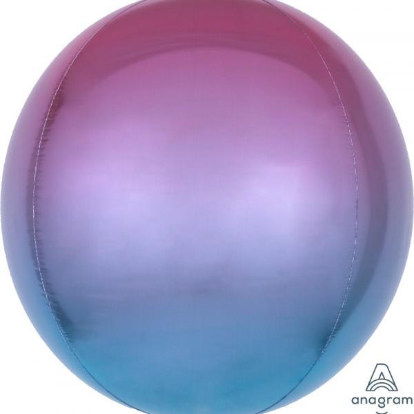"Ombre Orbz - Pink, Blue & Purple - 16"""