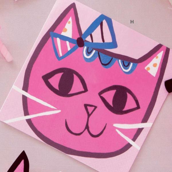 Pink Cat - Napkins