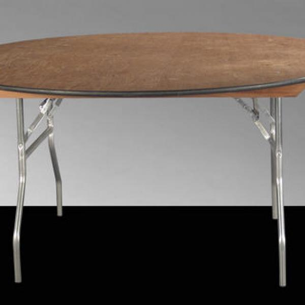 """Round Table, 54"""" - Wood - 30"""" Height"""