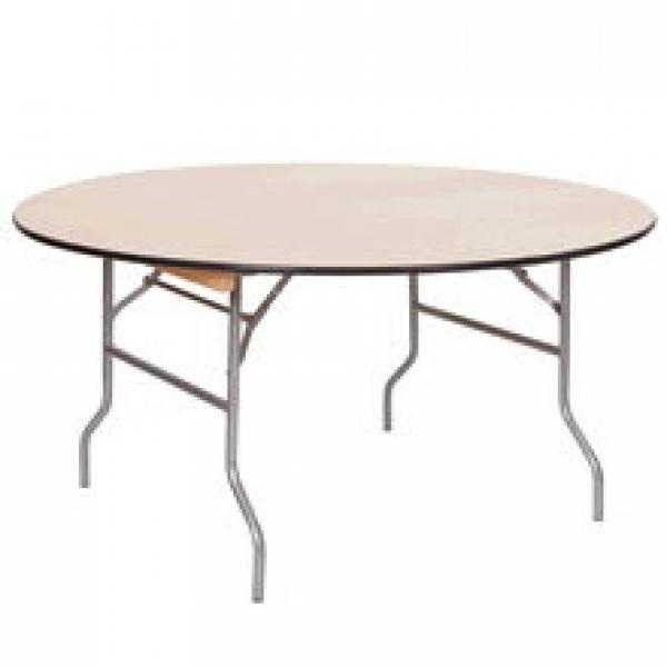 """Round Table, 72"""" - Wood - 30"""" Height"""