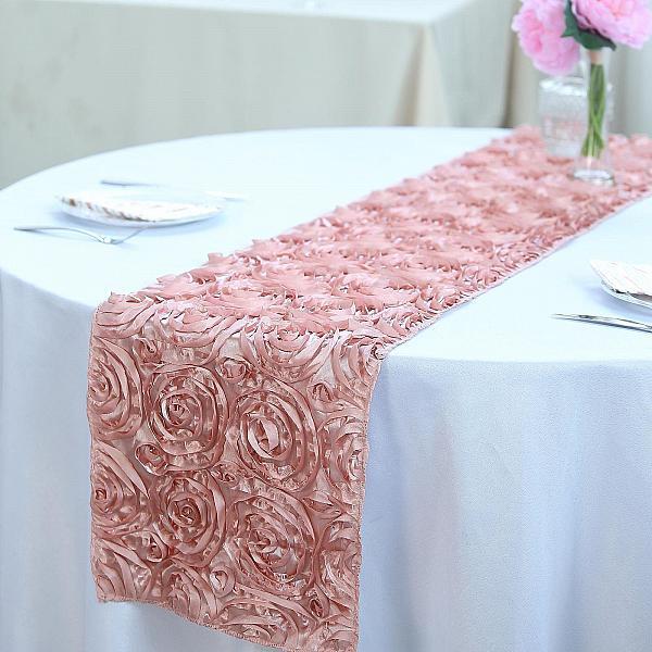 Table Runner - Rosette - Blush