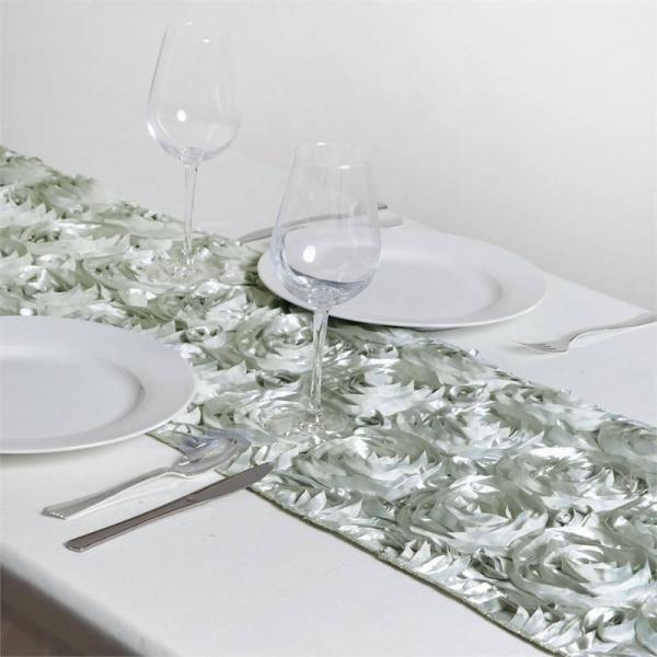Table Runner - Rosette - Silver