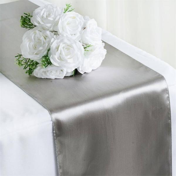 Table Runner - Satin - Silver