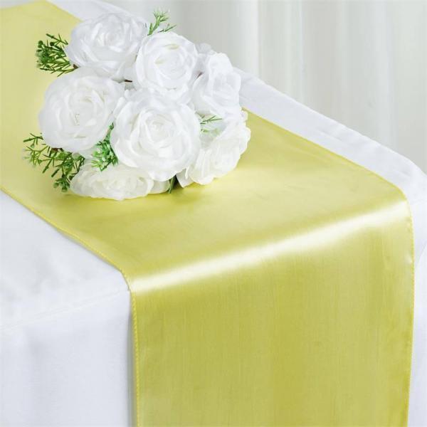 Table Runner - Satin - Yellow