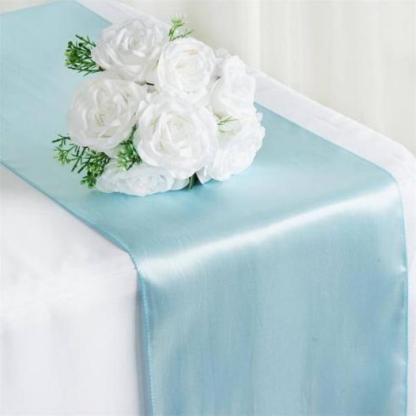 Table Runner - Satin - Blue