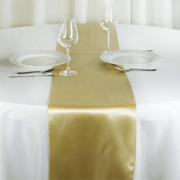 Table Runner - Satin - Champagne