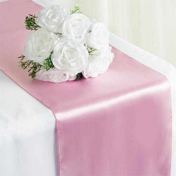 Table Runner - Satin - Pink