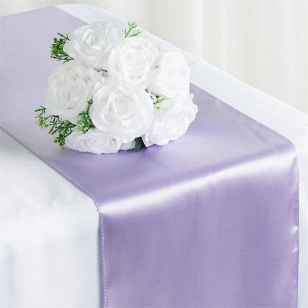 Table Runner - Satin - Lavender