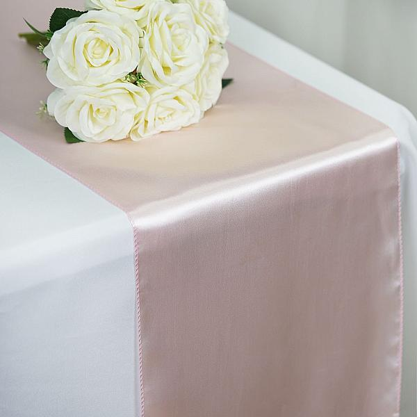 Table Runner - Satin - Blush