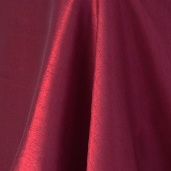 Table Runner - Raw Silk - Merlot