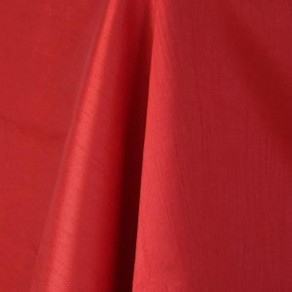 Table Runner -  Raw Silk - Red