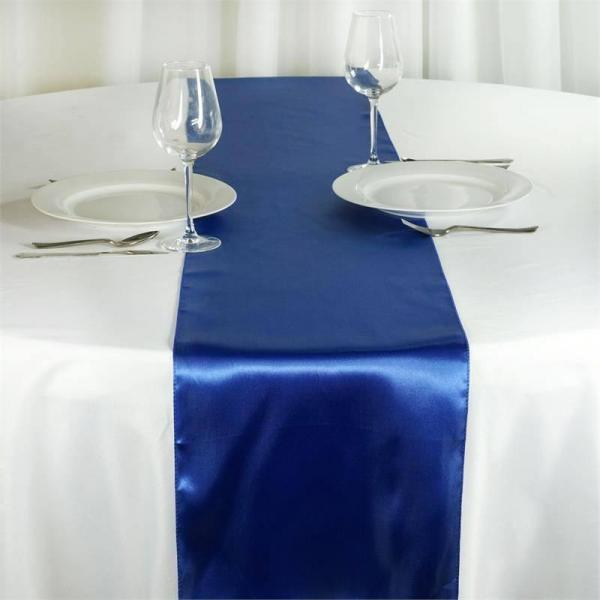 Table Runner - Satin - Royal Blue