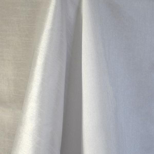 Table Runner - Raw Silk - White