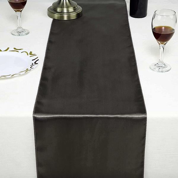 Table Runner - Satin - Pewter