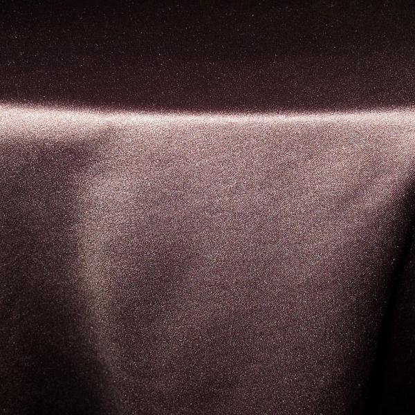 "Table Overlay - Satin - Chocolate 72"" x 72"""