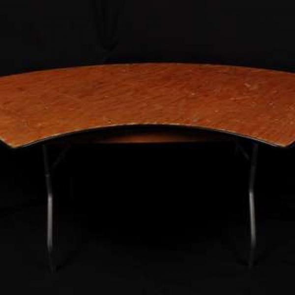 Serpentine Table - Wood 2.5'w x 5'