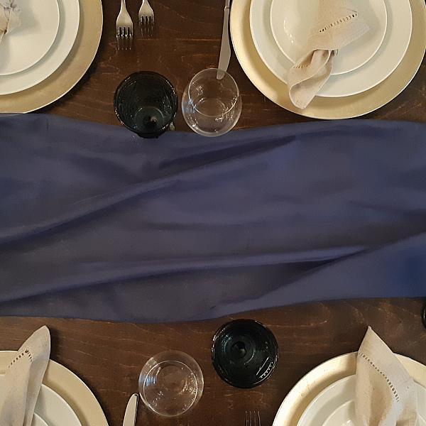 Table Runner, Sheer - Navy