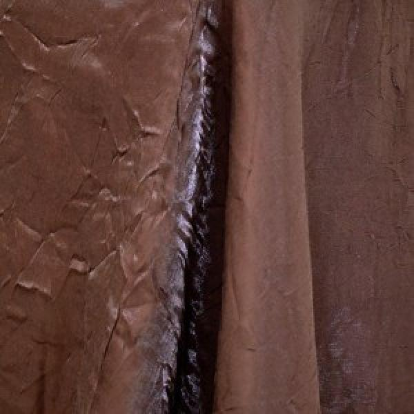 "Table Overlay - Crushed Silk - Chocolate 72"" x 72"""