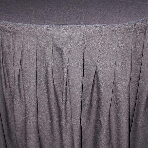 13' Black Table Skirt
