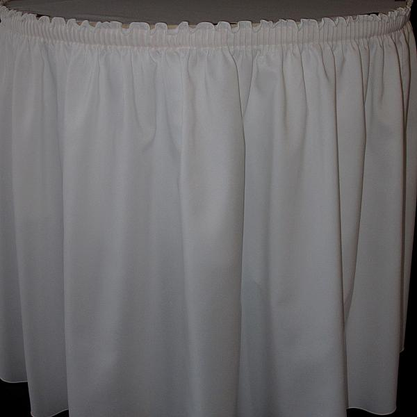 20' White Table Skirt