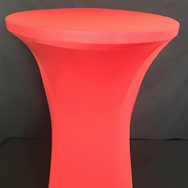 Spandex Cocktail Table Cover - Red