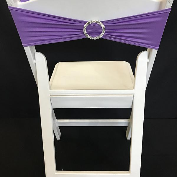 Spandex Chair Band w/ Buckle - Lavender