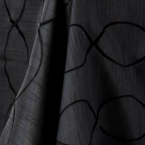 """Table Overlay - Raw Silk - Black 70"""" x 70"""""""