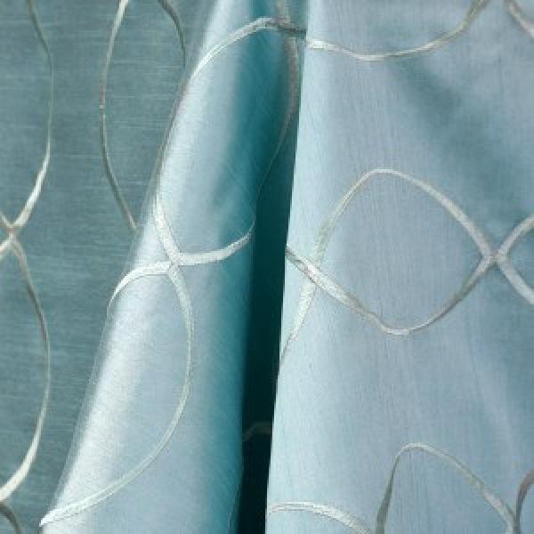 "Table Overlay - Raw Silk - Tiffany Blue 70"" x 70"""