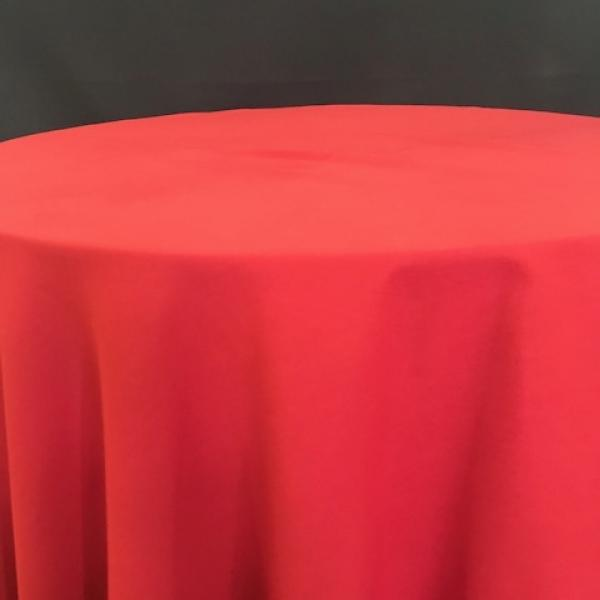 """Square Linen - Red - 90"""""""