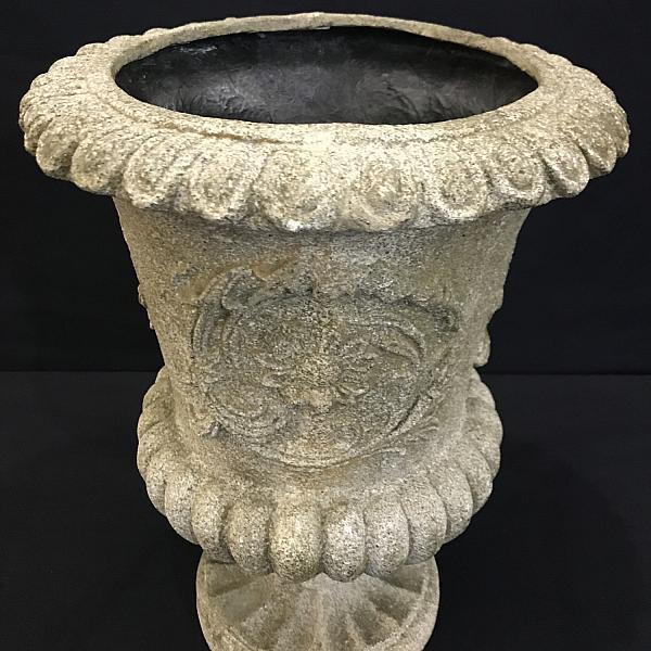 2' White Floral Urn