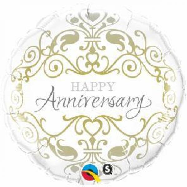 "Mylar - 18"" - Happy Anniversary Classic"