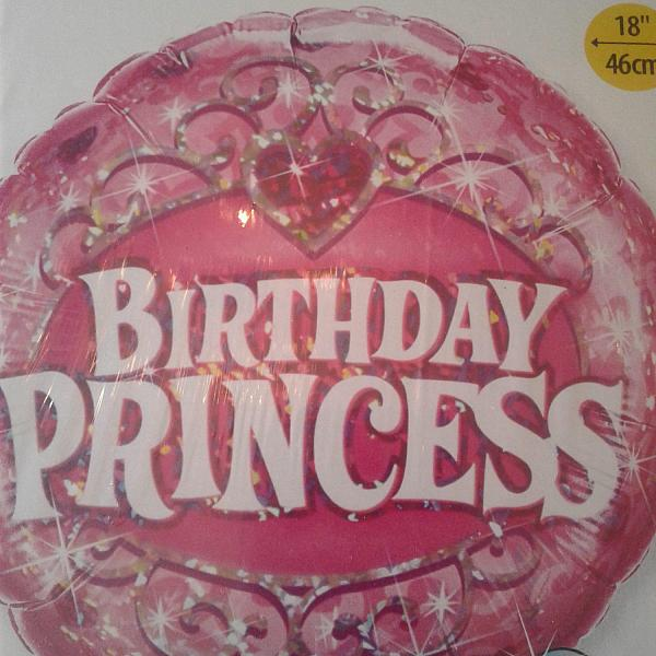 "Mylar - 18"" - Birthday Princess"