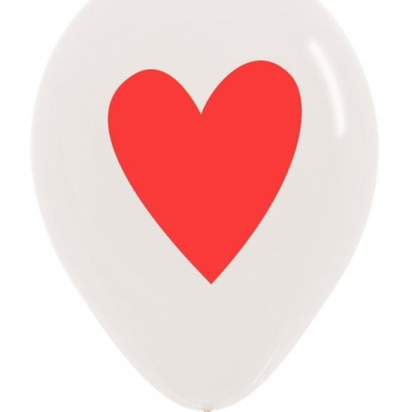 """11"""" Latex - Red Heart"""