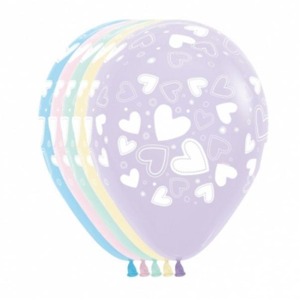 "11"" Latex - Pastel Hearts"