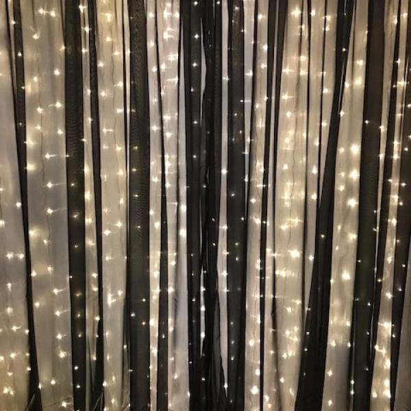 Backdrop Curtain Panel - Sheer - Black 10' x 12'