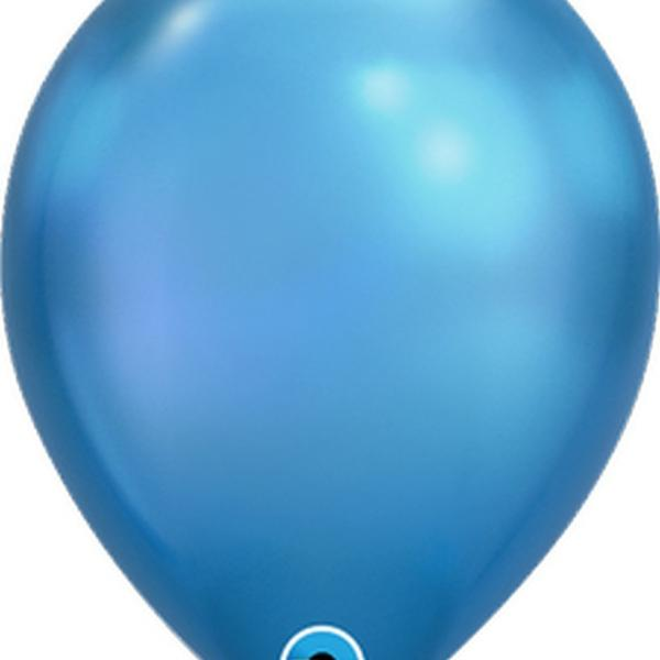 "Balloon - 11"" Latex - Chrome Blue"
