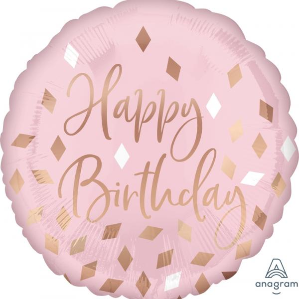 "Mylar - 18"" - Blush Birthday"
