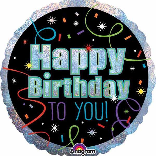 "Mylar - 18"" - Brilliant Birthday"