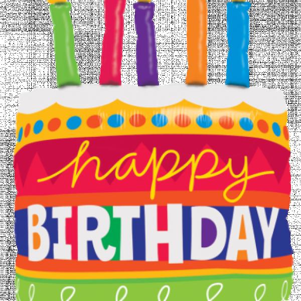 """Mylar - 35"""" Birthday Cake & Candles"""
