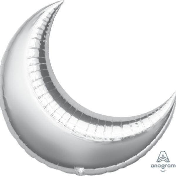 "Mylar - 35"" - Crescent Moon"