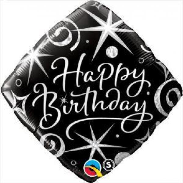 """Mylar - 18"""" - Happy Birthday Sparkle"""